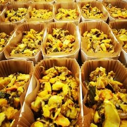 Plat gratin de légumes local